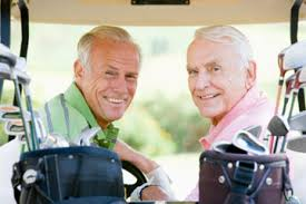 health-images-men on golf cart
