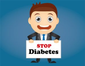 Healthy-image-stop diabetes-cartoon