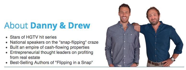 Snap Flip Real Estate Review Drew Levin Danny Perkins of HGTV